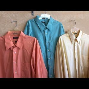 Men's 2x Arrow dress shirt lot if three